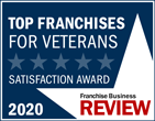 Franchise Business Review Logo - Top Franchises For Veterans Satisfaction Award 2020