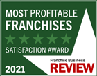 Franchise Business Review Logo - Most Profitable Franchises Satisfaction Award 2021