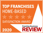 Franchise Business Review Logo - Top Franchises Home-Based Satisfaction Award 2020